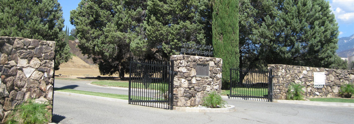 Picture of Cemetery Gates at San Gorgonio Memorial Cemetery.